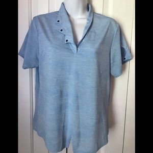 Jamie Sadock Golf Tennis Shirt light blue